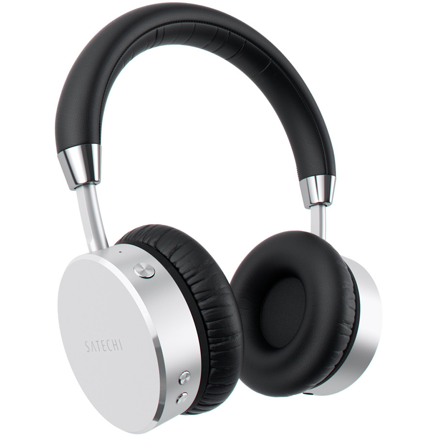 Наушники Satechi Aluminum Wireless Headphones серебристые (ST-AHPS)Накладные наушники<br>Наушники Satechi Aluminum Wireless Headphones сочетают в себе все преимущества беспроводных и проводных наушников премиум класса.<br><br>Цвет товара: Серебристый<br>Материал: Алюминий, пластик, эко-кожа