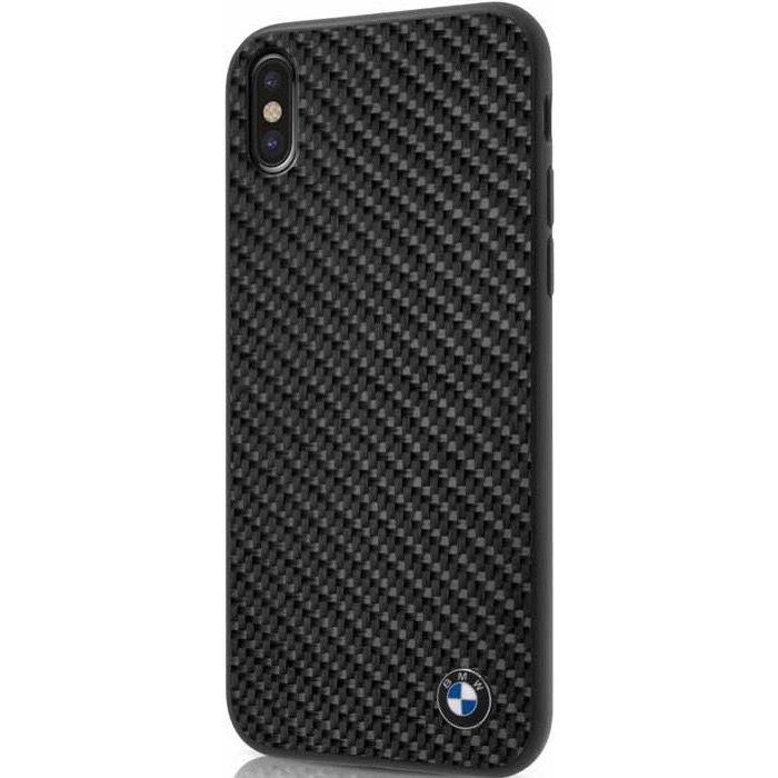 Чехол BMW Signature Real Carbon Fiber Hard для iPhone X чёрныйЧехлы для iPhone X<br>«Изюминкой» премиум чехла является накладка из настоящего карбонового волокна, ведь именно она передаёт непревзойдённый дух автомобилей ...<br><br>Цвет товара: Чёрный<br>Материал: Карбоновое волокно, поликарбонат