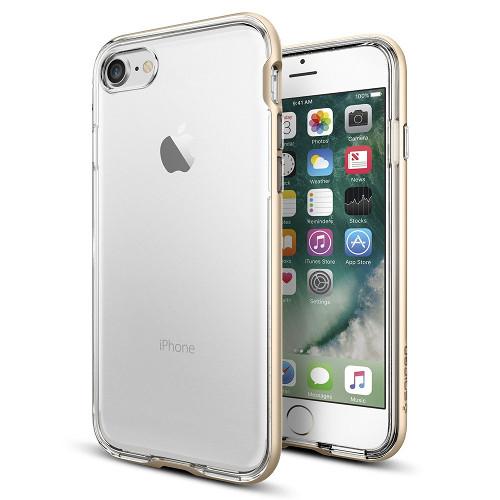 Чехол Spigen Neo Hybrid Crystal для iPhone 7 (Айфон 7) золотой (SGP-042CS20521)Чехлы для iPhone 7<br>Чехол Spigen Neo Hybrid Crystal для iPhone 7 (Айфон 7) золотой (SGP-042CS20521)<br><br>Цвет товара: Золотой<br>Материал: Поликарбонат, полиуретан