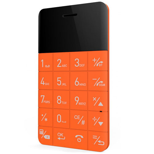 Ультратонкий анти-смартфон Elari CardPhone оранжевыйАнтисмартфоны<br>Ультратонкий анти-смартфон Elari CardPhone оранжевый<br><br>Цвет товара: Оранжевый<br>Материал: Пластик