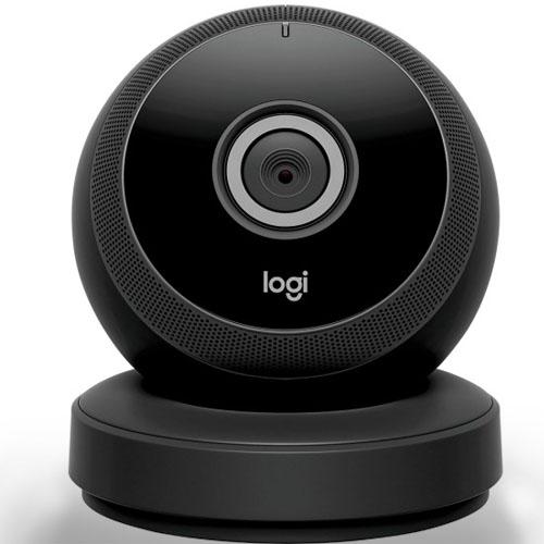 Видеокамера Logitech Circle Wireless HD Video Security с двусторонней связью чёрнаяУмные видеокамеры, няни<br>Видеокамера Logitech Cirle Wireless HD Video Security Camera with 2-way talk - черная<br><br>Цвет товара: Чёрный<br>Материал: Металл, пластик