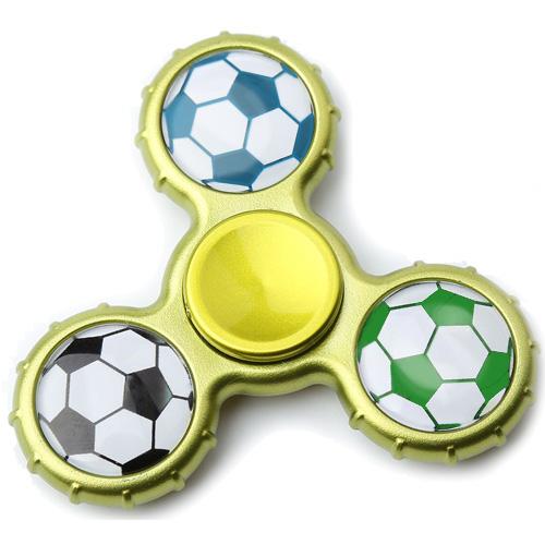 Спиннер FingerTip Football SP4527 жёлтый / серыйИгрушки-антистресс<br>Спиннер — новая и невероятно занимательная игрушка-антистресс, которая поможет вам сосредоточиться и успокоить нервы.<br><br>Цвет товара: Разноцветный<br>Материал: Пластик