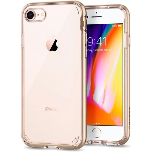 Чехол Spigen Neo Hybrid Crystal 2 для iPhone 8 шампань (054CS22366)Чехлы для iPhone 8<br><br><br>Цвет товара: Золотой<br>Материал: Термопластичный полиуретан, поликарбонат