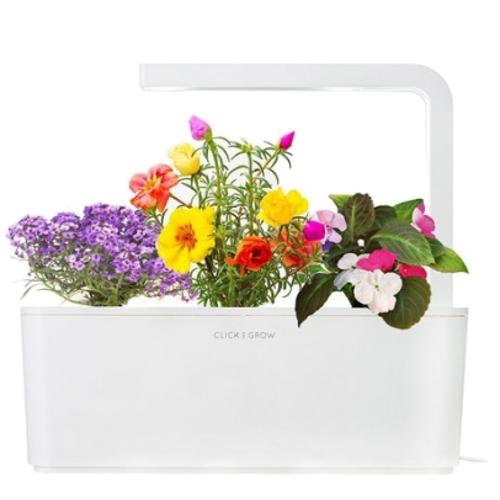 Умный сад Click and Grow Цветы Алиссум, Мускусная роза, Бальзамин (белая крышка)Умные сады и фермы<br>Умный сад от Click and Grow — это смарт-девайс, впитавший в себя новейшие разработки в сфере выращивания растений.<br><br>Цвет товара: Белый<br>Материал: Пластик