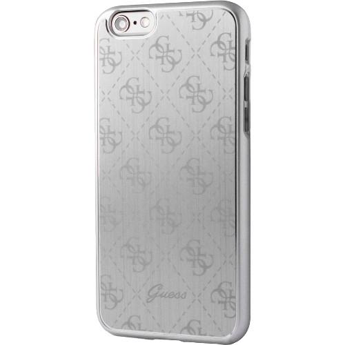 Чехол Guess 4G Aluminium Plate Hard для iPhone 7 (Айфон 7) серебристыйЧехлы для iPhone 7<br>Чехол Guess для iPhone 7 4G Aluminium plate Hard Silver<br><br>Цвет товара: Серебристый<br>Материал: Поликарбонат, алюминий
