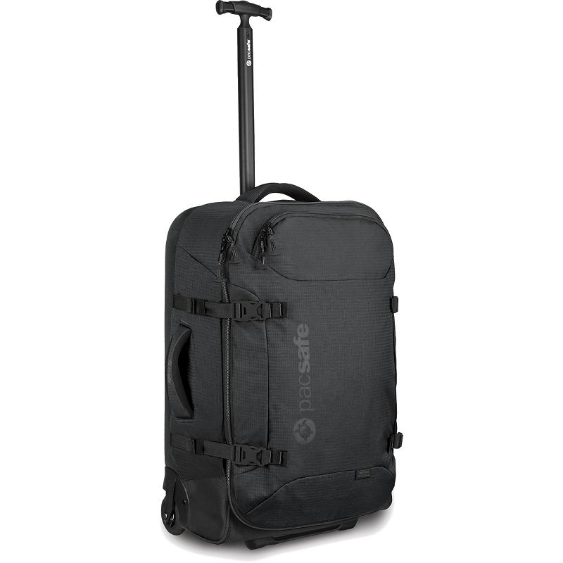 Сумка на колесах PacSafe Toursafe AT25Сумки и аксессуары для путешествий<br>PacSafe Toursafe AT25 — это отличное решение для тех кто часто и много путешествует по миру, ведь в нём вы сможете легко брать с собой все необходимое...<br><br>Цвет товара: Чёрный<br>Материал: Полиэстер, нейлон, нержавеющая сталь, пластик