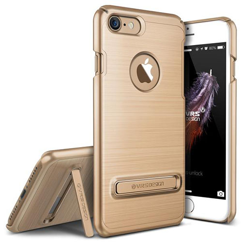 Чехол Verus Simpli Lite для iPhone 7 (Айфон 7) золотистый (VRIP7-SPLGD)Чехлы для iPhone 7<br>Чехол Verus для iPhone 7 Simpli Lite, шампань (904621)<br><br>Цвет товара: Золотой<br>Материал: Поликарбонат, полиуретан