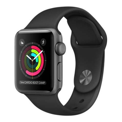 Часы Apple Watch Series 2 38 мм, алюминий «серый космос», спортивный ремешок чёрныйУмные часы<br>Часы Apple Watch Series 2 38 мм, алюминий «серый космос», спортивный ремешок чёрный<br><br>Цвет товара: Чёрный<br>Материал: Алюминий «Серый космос» серии 7000 анодированный<br>Модификация: 38 мм