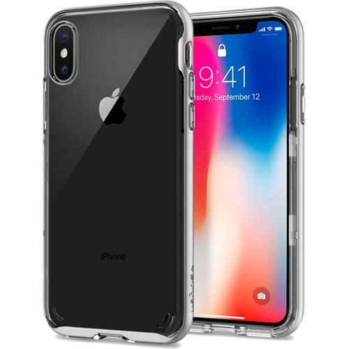 Чехол Spigen Case Neo Hybrid Crystal для iPhone X серебристый (057CS22174)Чехлы для iPhone X<br>Spigen Neo Hybrid Crystal — идеальный минималистичный чехол для iPhone X!<br><br>Цвет товара: Серебристый<br>Материал: Термопластичный полиуретан, поликарбонат
