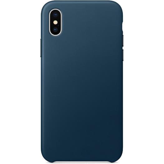 Кожаный чехол YablukCase для iPhone X космический синийЧехлы для iPhone X<br>Надёжный и легкий YablukCase — это лаконичный и стильный аксессуар для вашего iPhone!<br><br>Цвет товара: Синий<br>Материал: Экокожа, пластик