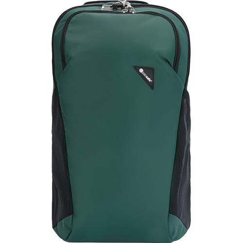 Рюкзак PacSafe Vibe 20 (Forest/Лес) зелёныйРюкзаки<br>PacSafe Vibe 20 Anti-theft - это туристический рюкзак ёмкостью 20 литров, оснащённый защитой от воров.<br><br>Цвет товара: Зелёный<br>Материал: Текстиль, нержавеющая сталь, пластик