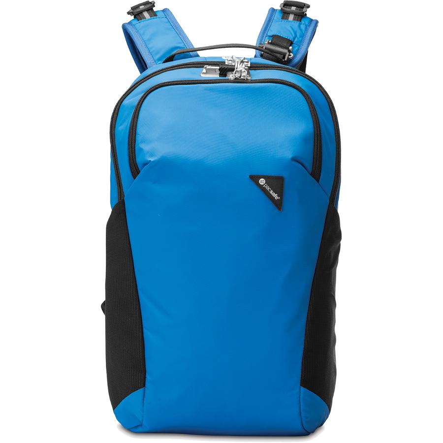 Рюкзак PacSafe Vibe 20 Anti-theft 20L синийРюкзаки<br>PacSafe Vibe 20 Anti-theft - туристический рюкзак, оснащённый защитой от воров.<br><br>Цвет товара: Синий<br>Материал: Текстиль, нержавеющая сталь, пластик