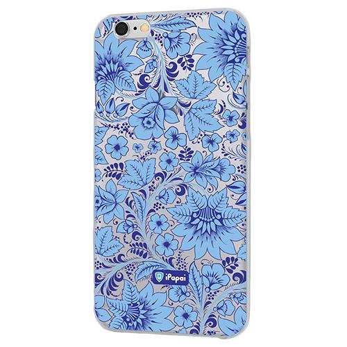 Чехол iPapai для iPhone 6/6s Хохлома (Голубая)Чехлы для iPhone 6/6s<br>Чехол iPapai Хохлома (Голубая) для iPhone 6/6s<br><br>Цвет товара: Голубой<br>Материал: Пластик