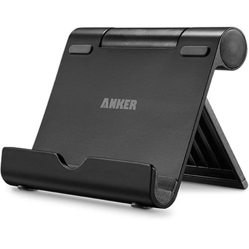 Алюминиевая подставка Anker Multi-Angle Stand для смартфонов и планшетов чёрнаяДокстанции/подставки<br>Anker Multi-Angle Stand — универсальная и очень удобная алюминиевая подставка, которая подойдёт для любых смартфонов и планшетов.<br><br>Цвет товара: Чёрный<br>Материал: Алюминий, резина