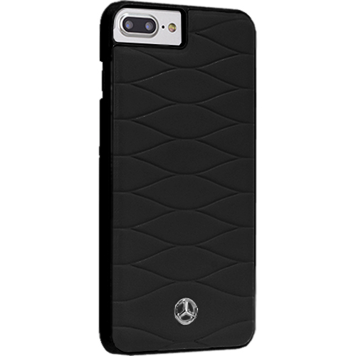 Чехол Merсedes-Benz Pattern III для iPhone 7 Plus чёрная кожа