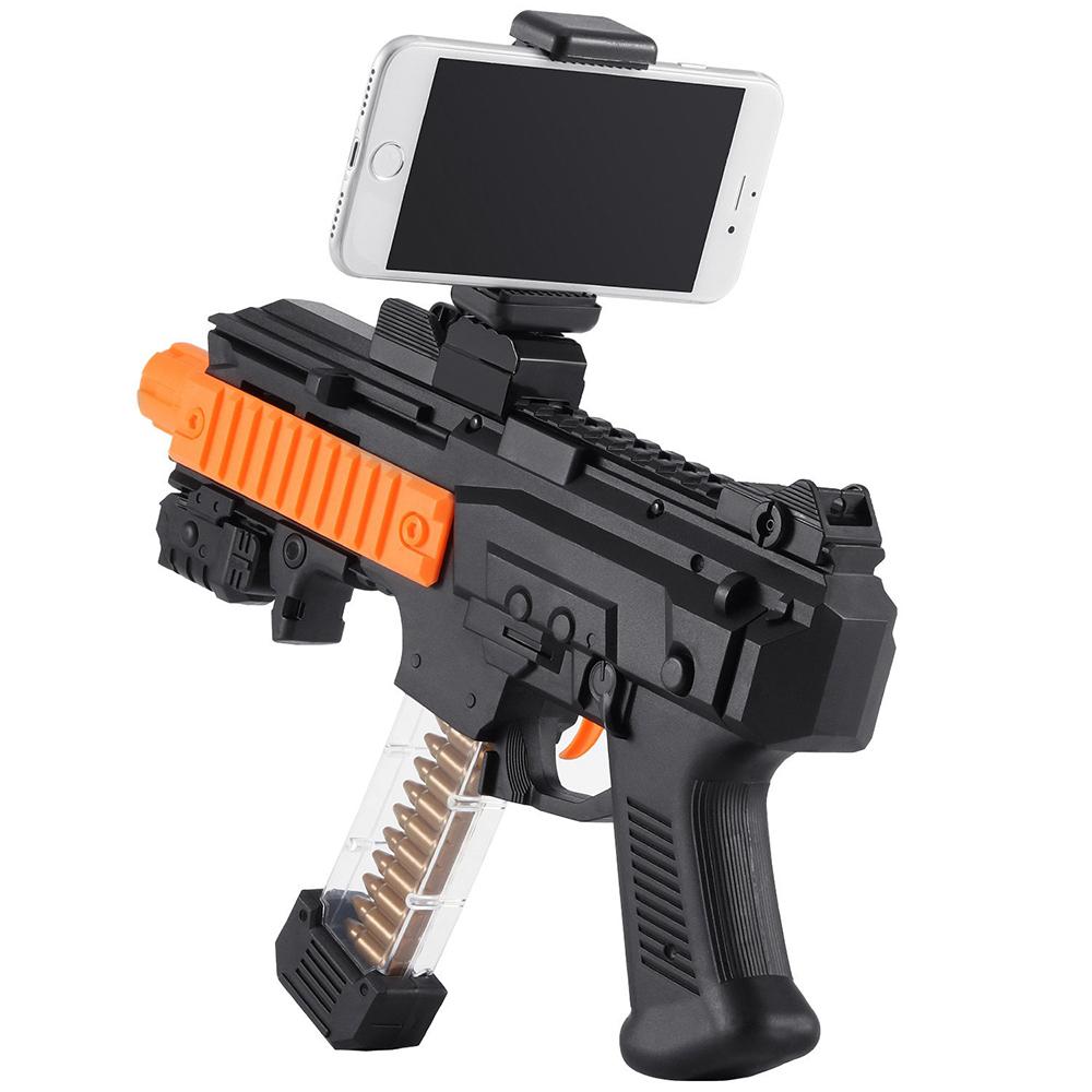 Пистолет для виртуальной реальности AR Game Gun «Киборг»Игрушки управляемые смартфоном<br>AR Game Gun создает реальность в любом месте, в любое время!<br><br>Цвет товара: Чёрный<br>Материал: Пластик