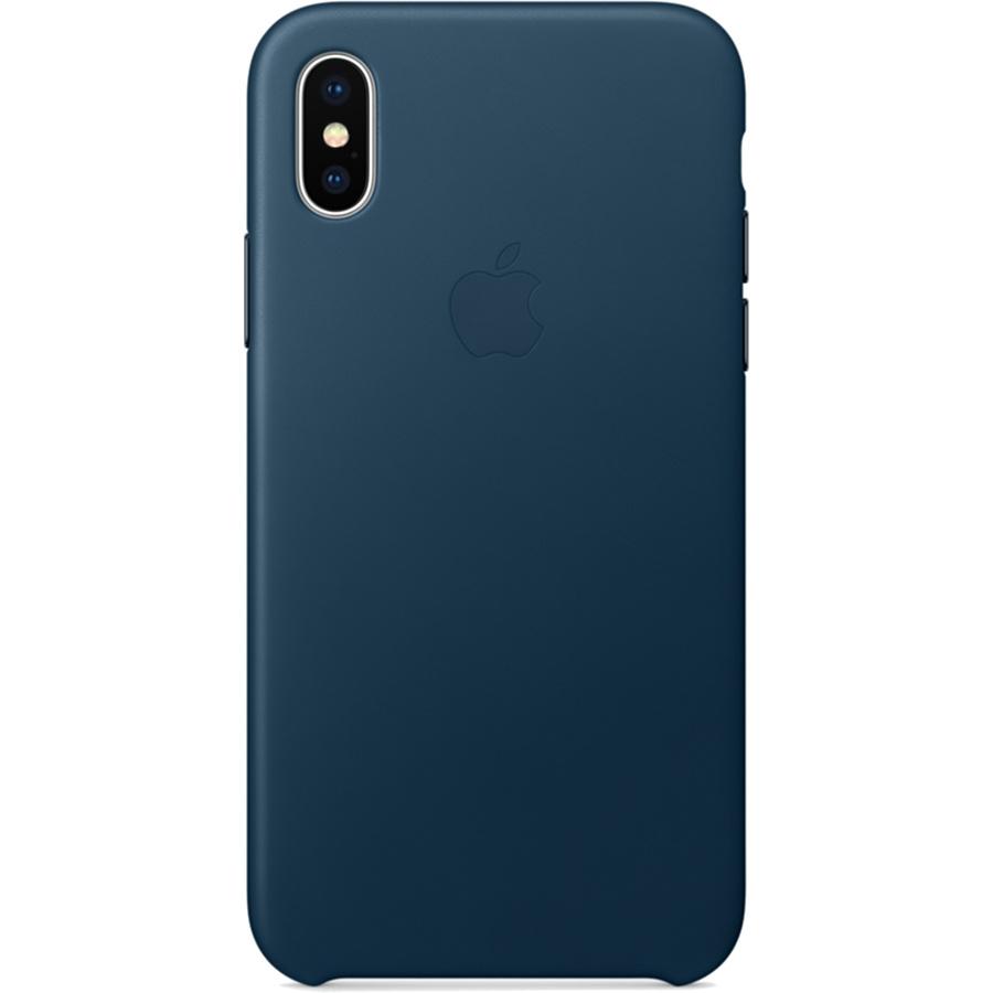 Кожаный чехол Apple Leather Case для iPhone X «космический синий» (Cosmos Blue)Чехлы для iPhone X<br>Кожаный чехол от Apple — отличное дополнение к вашему iPhone X.<br><br>Цвет товара: Синий<br>Материал: Натуральная кожа