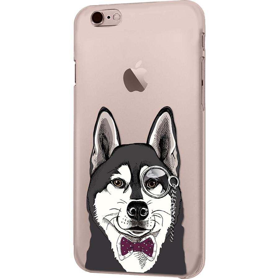 Чехол iPapai для iPhone 7 «Питомцы» (Хаски)Чехлы для iPhone 7<br>Креативный силиконовый чехол iPapai с уникальным дизайнерским принтом для iPhone 7.<br><br>Цвет товара: Прозрачный<br>Материал: Силикон