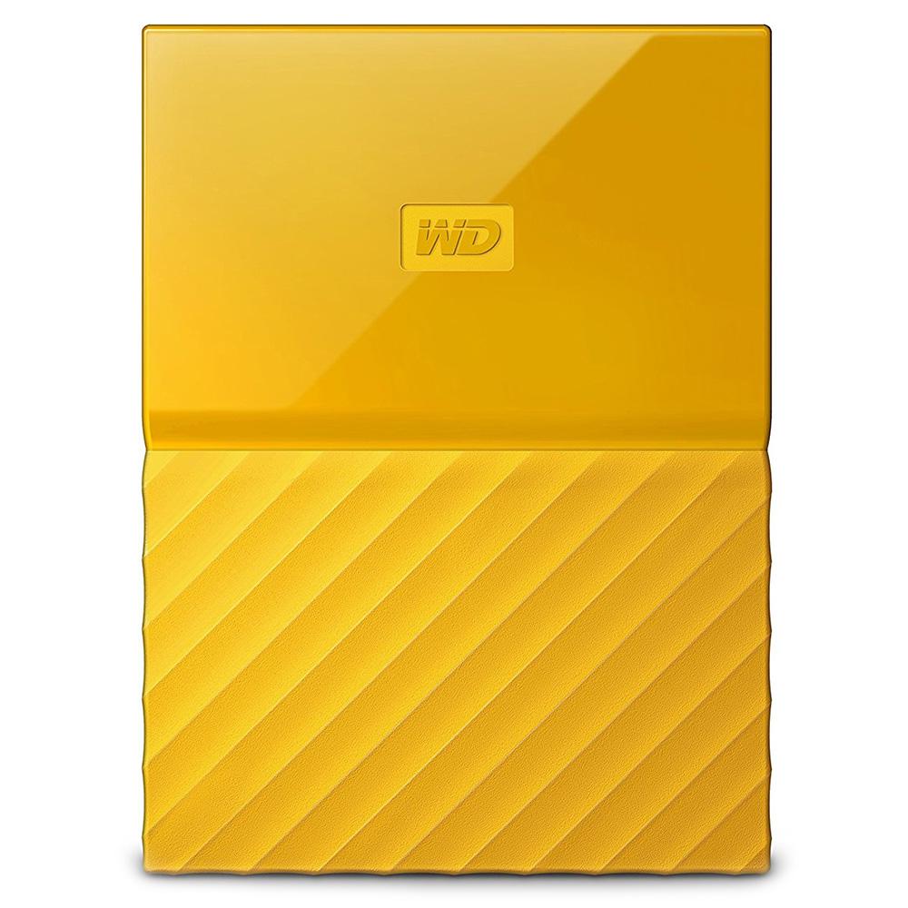 Внешний жесткий диск Western Digital My Passport New 2017 1Тб жёлтыйВнешние накопители<br>Western Digital My Passport помещается в ладони и вы сможете взять все ваши файлы, куда бы вы ни отправились.<br><br>Цвет товара: Жёлтый<br>Материал: Пластик, металл<br>Модификация: 1 Тб
