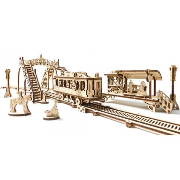 3D-пазл Ugears Трамвайная линия3D пазлы и конструкторы<br>3D-пазлы от компании UGears — это модели удивительной красоты и функциональности.<br><br>Цвет товара: Бежевый<br>Материал: фанера (ФК)
