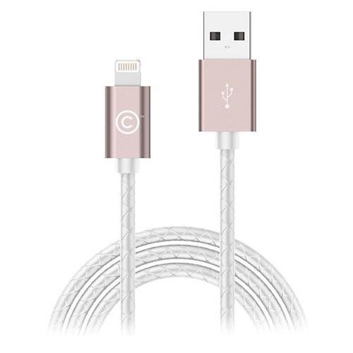 Кабель LAB.C Sync &amp; Charge USB-Lightning 1.8 м розовый/белыйКабели Lightning<br>Кабель LAB.C USB на Lighting 1.8m. leather розовый/белый<br><br>Цвет товара: Белый<br>Материал: Пластик