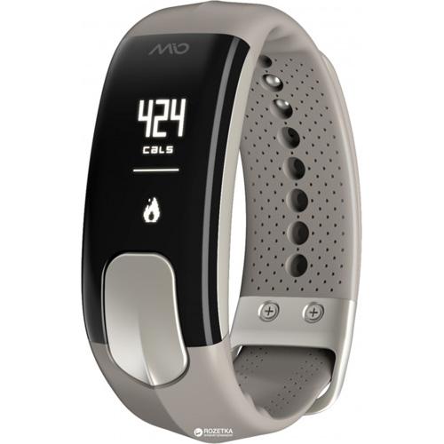 Фитнес-браслет MIO SLICE Sienna (размер L) серыйБраслеты, кардиодатчики<br>MIO SLICE поможет узнать сколько шагов вы прошли и сколько затратили калорий, а также время и расстояние, которое вы прошли, и, конечно же, ваш пу...<br><br>Цвет товара: Серый<br>Материал: Пластик, силикон<br>Модификация: L