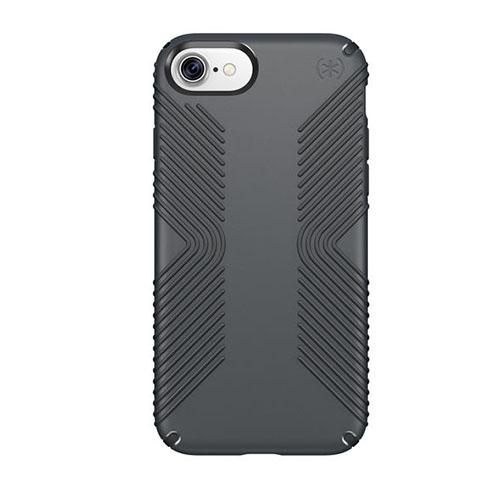 Чехол Speck Presidio Grip для iPhone 7 / iPhone 8 серый/чёрныйЧехлы для iPhone 7<br>Чехол Speck Grip Presidio для iPhone 7 - черный/серый<br><br>Цвет товара: Серый<br>Материал: Пластик, силикон