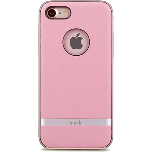 Чехол Moshi Napa для iPhone 7 (Айфон 7) розовыйЧехлы для iPhone 7<br>Чехол Moshi Napa для iPhone 7 (Айфон 7) розовый<br><br>Цвет товара: Розовый<br>Материал: Поликарбонат, полиуретановая кожа