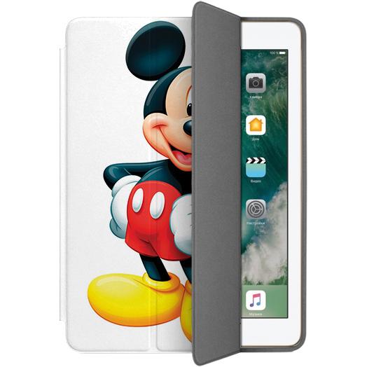 Чехол Muse Smart Case для iPad 9.7 (2017/2018) Микки МаусЧехлы для iPad 9.7<br>Чехлы Muse — это индивидуальность, насыщенность красок, ультрасовременные принты и надёжность.<br><br>Цвет: Белый<br>Материал: Поликарбонат, полиуретановая кожа