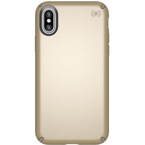 Чехол Speck Presidio Metallic для iPhone X золотойЧехлы для iPhone X<br>Привлекательный чехол Speck Presidio Metallic является превосходной защитой для вашего iPhone X.<br><br>Цвет товара: Золотой<br>Материал: Поликарбонат