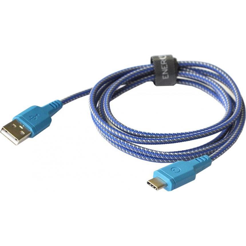 Кабель EnergEA Nylotough Type-C (1,5 метра) синийКабели Type-C и другие<br>Длинный кабель EnergEA Nylotough в плотной нейлоновой оплетке для гаджетов с интерфейсом USB Type-C.<br><br>Цвет товара: Синий<br>Материал: Пластик, нейлон