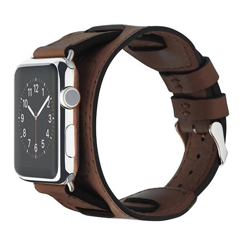 Ремешок Cozistyle Wide Leather Band для Apple Watch 42мм тёмно-коричневыйРемешки для Apple Watch<br>Cozistyle Wide Leather Band - это стильный ремешок для умных часов Apple Watch 42мм.<br><br>Цвет товара: Коричневый<br>Материал: Натуральная кожа, нержавеющая сталь