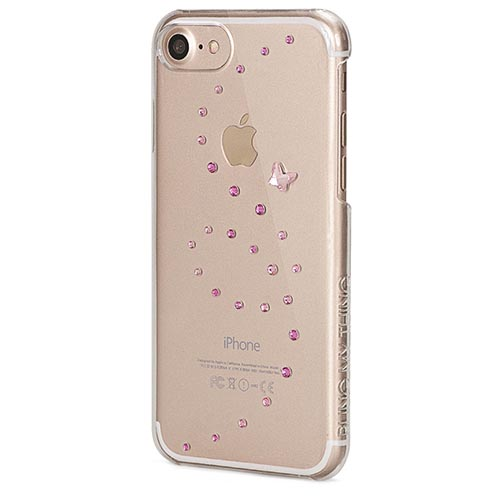 Чехол Bling My Thing Papillon для iPhone 7 (Айфон 7) Rose Sparkles прозрачный