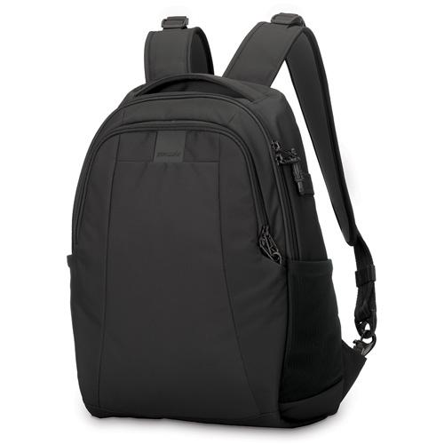 Рюкзак Pacsafe Metrosafe LS350 чёрныйРюкзаки<br>Metrosafe LS350 Black<br><br>Цвет товара: Чёрный<br>Материал: Текстиль, нержавеющая сталь, пластик