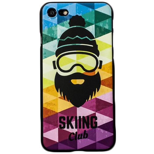 Чехол iPapai «Ski» (Борода Яркая) для iPhone 7Чехлы для iPhone 7<br>Стильный и надёжный чехол iPapai с уникальным дизайнерским принтом.<br><br>Цвет товара: Разноцветный<br>Материал: Пластик