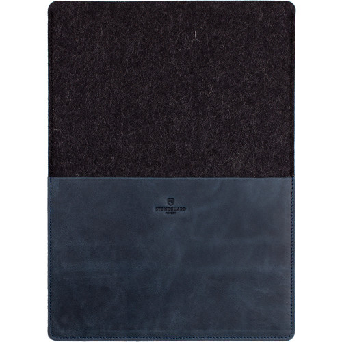 Кожаный чехол Stoneguard для MacBook Air 13 синий Ocean Coal (541)Чехлы для MacBook Air 13<br>Кожаный чехол Stoneguard Moscow для MacBook Air 13 model: 541 - Ocean / Coal<br><br>Цвет товара: Синий<br>Материал: Натуральная кожа, фетр