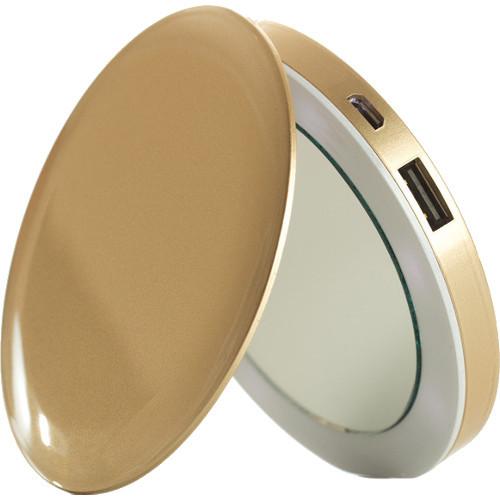 Внешний аккумулятор-зеркало HyperJuice Pearl 3000 мАч золотойВнешние аккумуляторы<br>Внешний аккумулятор-зеркало HyperJuice Pearl 3000 мАч золотой<br><br>Цвет товара: Золотой<br>Материал: Пластик