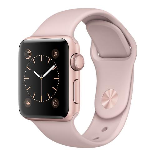 Часы Apple Watch Series 2 38 мм, алюминий «розовое золото», спортивный ремешок «розовый песок»Умные часы<br>Часы Apple Watch Series 2 38 мм, алюминий «розовое золото», спортивный ремешок «розовый песок»<br><br>Цвет товара: Розовый<br>Материал: Алюминий «Розовое золото» серии 7000 анодированный<br>Модификация: 38 мм