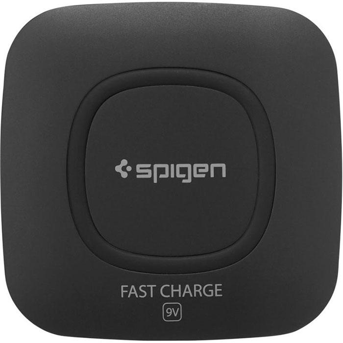Купить со скидкой Зарядное устройство Spigen Essential F301W Wireless Charger (Ultra Slim) чёрное