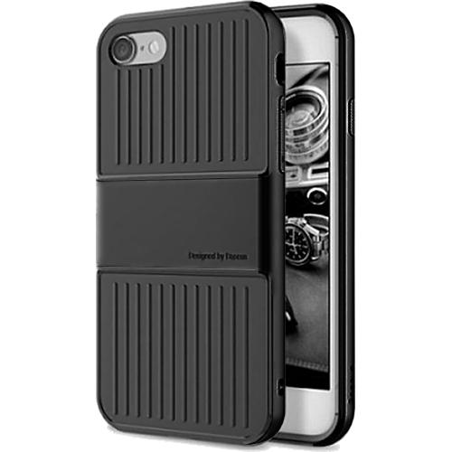 Чехол Baseus Travel Case для iPhone 7 чёрныйЧехлы для iPhone 7<br>Чехол Baseus Travel Case — это два слоя превосходной защиты и стиля для вашего iPhone.<br><br>Цвет товара: Чёрный<br>Материал: Поликарбонат, термопластичный полиуретан