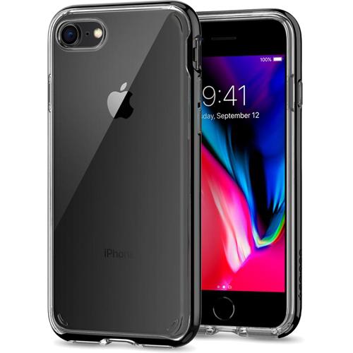 Чехол Spigen Neo Hybrid Crystal 2 для iPhone 8 ультрачёрный (054CS22367)Чехлы для iPhone 8<br><br><br>Цвет товара: Чёрный<br>Материал: Термопластичный полиуретан, поликарбонат