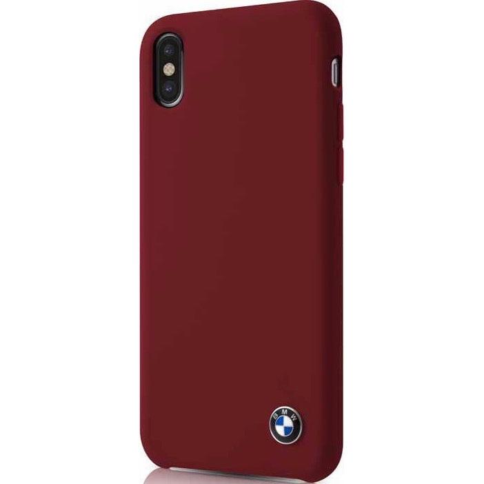 Чехол BMW Signature Liquid silicone Hard для iPhone X красный BurgundyЧехлы для iPhone X<br>Скорость, адреналин, гонки и конечно роскошные и мощные автомобили от BMW — вот символы целой серии чехлов для защиты вашего iPhone.<br><br>Цвет: Красный<br>Материал: Силикон, микрофибра, поликарбонат