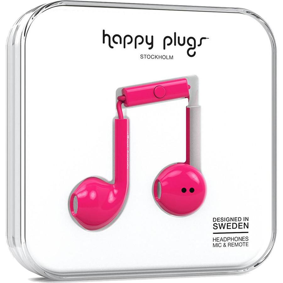 Наушники Happy Plugs Earbud Plus Розовая вишняВнутриканальные наушники<br>Earbud Plus от Happy Plugs разработаны специально для максимального комфорта и качественного звука.<br><br>Цвет: Розовый<br>Материал: Пластик, силикон