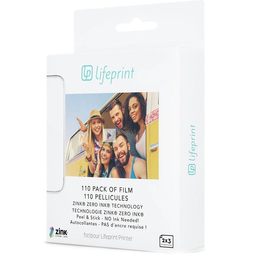 Фотобумага для принтера LifePrint (110 шт.)Портативные принтеры<br>Фотобумага для принтера LifePrint позволяет распечатывать фото размером 7,5 x 5 см.<br><br>Цвет: Белый<br>Материал: Бумага