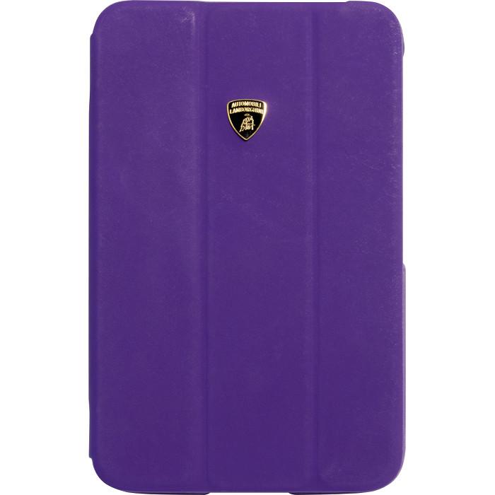 Кожаный чехол Lamborghini Diablo Smart Cover для Samsung Galaxy Tab 3 8.0 ФиолетовыйЧехлы для Samsung Galaxy Tab<br>Чехол Lamborghini Diablo для Galaxy Tab 3 (8) PR<br><br>Цвет товара: Фиолетовый<br>Материал: Поликарбонат, полиуретан