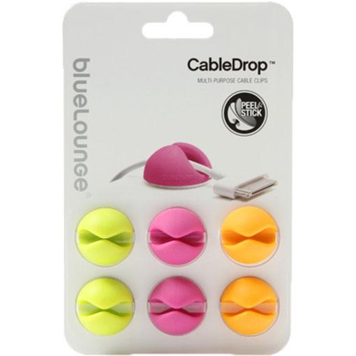 Зажим для проводов Bluelounge CableDrop (6 штук) жёлтый / розовый / зелёныйОрганайзеры проводов и гаджетов<br>Bluelounge CableDrop помогут вам организовать рабочее пространство!<br><br>Цвет товара: Разноцветный<br>Материал: Пластик