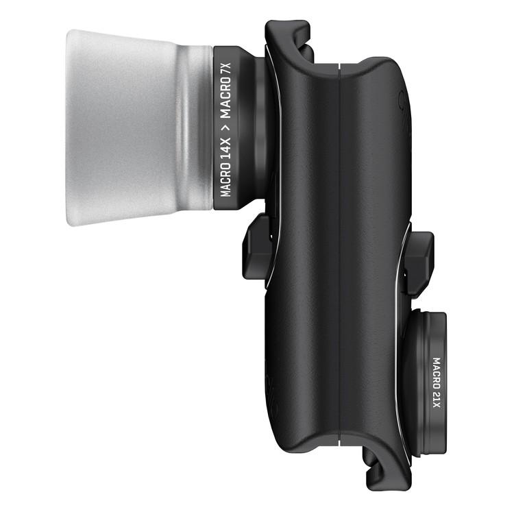 Комплект линз Olloclip Macro Pro Lens Set для iPhone 7 / iPhone 7 Plus чёрныйОбъективы<br>Olloclip Macro Pro Lens Set подарит вам возможность делать фотографии премиум-качества!<br><br>Цвет товара: Чёрный<br>Материал: Алюминий, оптическое стекло