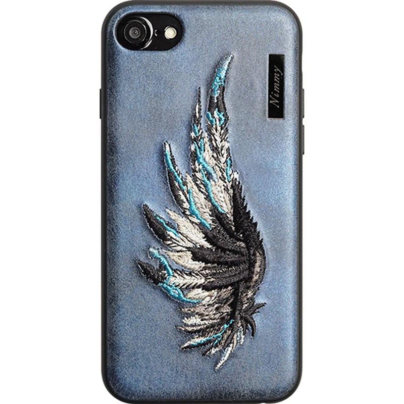 Чехол Nimmy Fantasy Denim для iPhone 7 / iPhone 8 (Крыло) синийЧехлы для iPhone 7<br>Оригинальный и надёжный чехол Nimmy Fantasy Denim притягивает взгляд окружающих с первой секунды.<br><br>Цвет товара: Синий<br>Материал: Пластик, силикон, текстиль