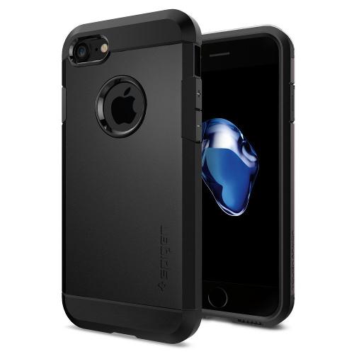 Чехол Spigen Tough Armor для iPhone 7 (Айфон 7) чёрный (SGP-042CS20491)Чехлы для iPhone 7<br>Обеспокоены безопасностью вашего iPhone 7? С бестселлером от Spigen — чехлом Tough Armor — вам больше никогда не придётся об этом волноваться!<br><br>Цвет товара: Чёрный<br>Материал: Поликарбонат, полиуретан