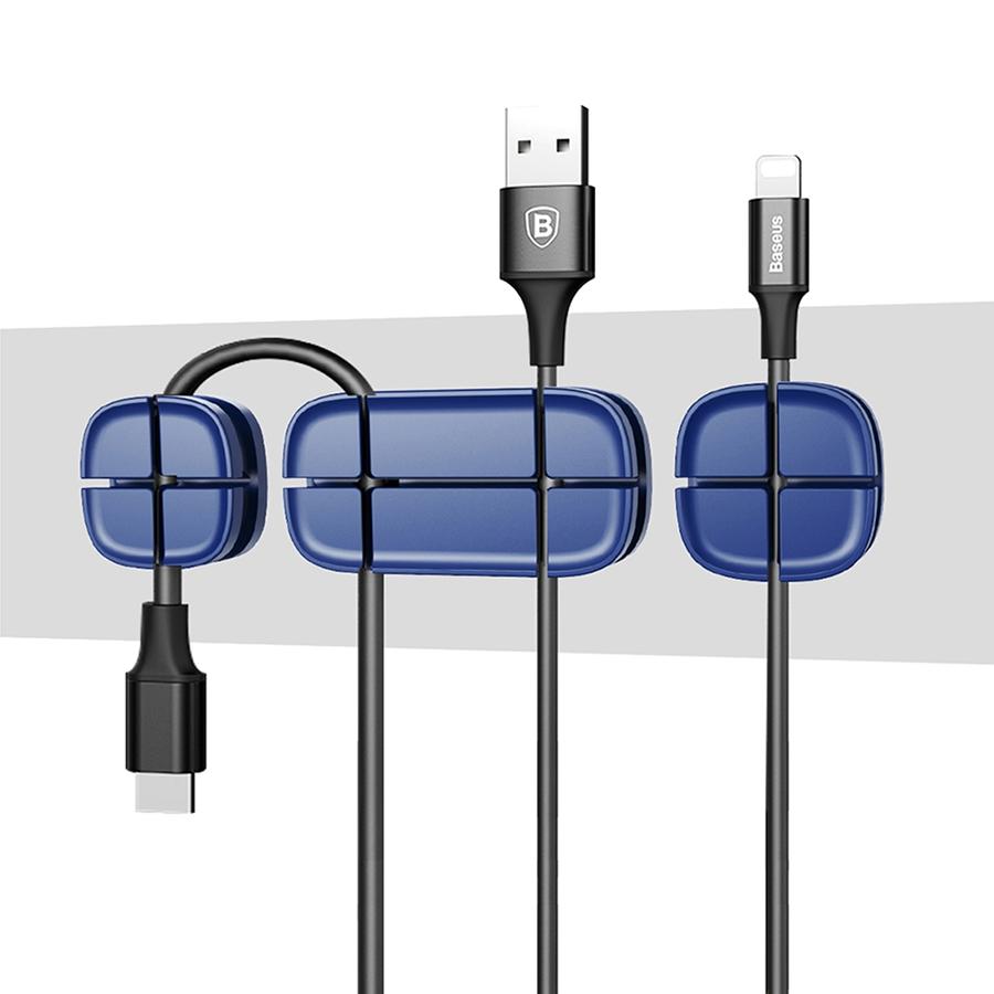 Организатор проводов Baseus Cross Peas Cable Clip синийОрганайзеры проводов и гаджетов<br>Baseus Cross Peas Cable Clip - это компактный организатор проводов, который поможет Вам справиться с мотками кабелей на столе.<br><br>Цвет товара: Синий<br>Материал: Силикон